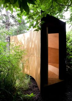 Forest Pond House, conceived as a meditation room and children's den, is a tiny cabin of in Hampshire designed by TDO Architecture. Landscape Architecture, Interior Architecture, Architecture Images, Interior Design, Forest Cabin, Forest House, Farm House, Tiny House, Natural Pond