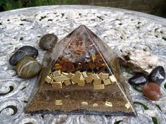Success, Abundance & Heightened Concentration - Orgonite Pyramid by OrgoneJewelsUK on Etsy Abundance, Success, Personalized Items, Unique Jewelry, Handmade Gifts, Etsy, Handcrafted Gifts, Hand Made Gifts, Diy Gifts