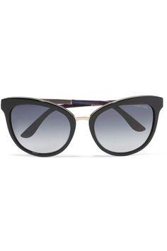 df77f6458e2 TOM FORD - Cat-eye acetate and gold-tone sunglasses