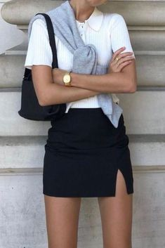 Stylish Everyday Outfits To Get You Through The Rest Of Summer     Summer Outfit... | 1000 Style Outfits, Mode Outfits, Cute Casual Outfits, Skirt Outfits, Fall Outfits, Best Summer Outfits, Outfit Styles, Casual Styles, Winter Fashion Outfits