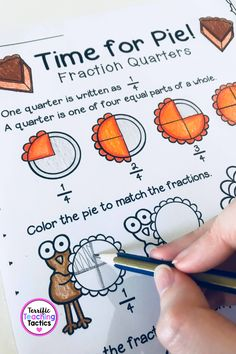 Teaching Fractions, Fractions Worksheets, Math Resources, Math Activities, Classroom Resources, Second Grade Math, First Grade, Jolly Phonics, Simple Math
