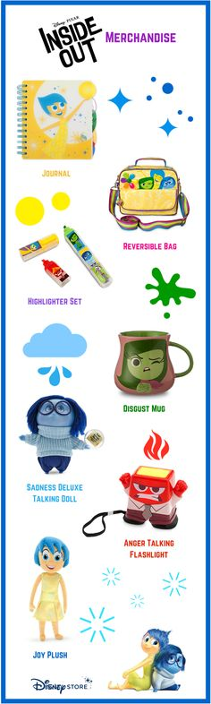 Pixar Inside Out Merchandise
