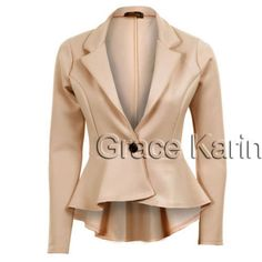 Mulheres clássico comercial Formal festa um botão Office Coats Blazers Jackets Tops