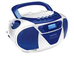 Blaupunkt B 6 tragbares CD Radio mit Kassettenplayer (LCD-Display mit Backlight, 2 x 1 Watt, UKW/MW, Albumfunktion) blau: Amazon.de: Elektronik