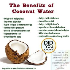 Love Coconut Water! I add some of it to my juices and it makes it even more healthier. What about you FitLifers?