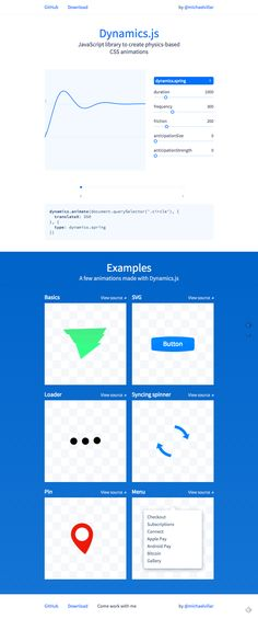 Dynamics.js | JavaScript library for CSS animations