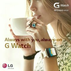 LG G Watch with Android Wear G Watch, Android Wear, Smart Watch, Fitbit, Watches, How To Wear, Products, Fashion, Moda
