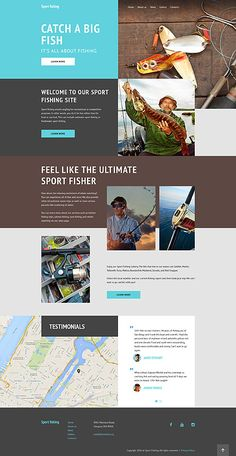 Template 58137 - Sport Fishing  Responsive Website Template