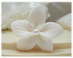 Stephanotis Pearl Hair Pin  Bridal Hair by strandedtreasures, $8.00