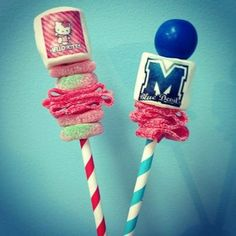 Adorable personalized Marshmallow and candy skewers. You can put any image you like! Great party favor's and gifts.