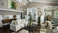 Bartsch Residence Laguna Beach beach style living room -- sherwin williams functional gray