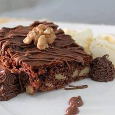 Brownie de Nutella com Nozes