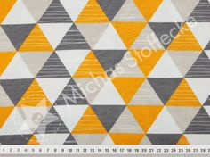 Michas Stoffecke - Stretchjersey Triangles sonnengelb V-EP-PL-1347-C-EV