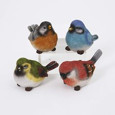 Amazon.com: Gerson Spring Song Birds Decorative Figurines - Set of 4: Home & Kitchen Spring Song, Spring Birds, Wood Vinyl, Collectible Figurines, Modern Classic, Different Colors, Bookshelf Decorating, Songs, Holiday Decor