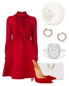 """Без названия #3416"" by claire-hamilton-bristol ❤ liked on Polyvore featuring Valentino, Effy Jewelry, Cartier, SOKO, Philip Treacy and Christian Louboutin"