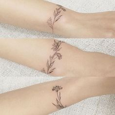 beautiful wrist flower tattoo from Korean artist