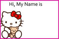 Free Printable Hello Kitty Name Tags Templates Theme Gift