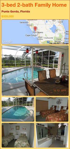 3-bed 2-bath Family Home in Punta Gorda, Florida ►$339,000 #PropertyForSale #RealEstate #Florida http://florida-magic.com/properties/90470-family-home-for-sale-in-punta-gorda-florida-with-3-bedroom-2-bathroom