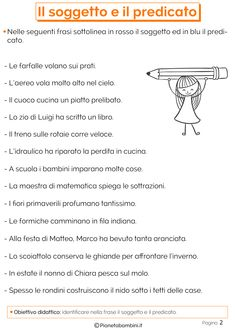 Italian Grammar, Italian Language, Learning Time, Learning Italian, Reading Comprehension, Elementary Schools, Montessori, Education, Virginia