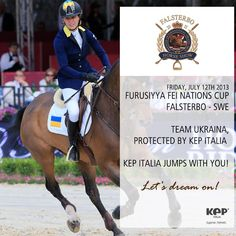 KEP Italia - superior sport this week end in Falsterbo Sweden.  Today team UKRAINA - with all riders protected by KEP Italia, will be fighting for the podium (last conquered in Rome in May) together with other 7 teams. We are all ready for a great show and to cheer for all horse and rider combinations in the arena!