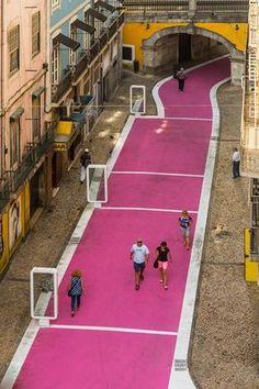 Rua Cor de Rosa - Pink Street, José Adrião Arquitectos, Lisboa, Portugal
