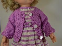 Puppenjacke gestrickt  für  40 cm Puppe von MonikasPuppenmode auf DaWanda.com