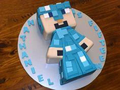 "Diamond edition Minecraft 'Steve"" cake"