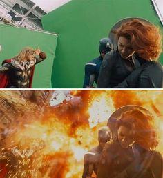 Os Vingadores - The Avengers ***** A magia do cinema: 40 imagens de filmes e séries antes e depois dos efeitos especiais - Slideshow - AdoroCinema