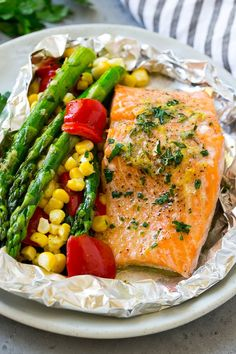 Healthy Baked Salmon Recipes In Foil.Baked Salmon In Foil Easy Healthy Recipe. Garlic Butter Salmon In Foil The Best Salmon Recipe . Baked Honey Lemon Garlic Salmon In Foil Creme De La Crumb. Healthy Grilling Recipes, Grilled Steak Recipes, Baked Salmon Recipes, Grilled Salmon, Grilled Vegetables, Seafood Recipes, Fresh Vegetables, Dinner Recipes, Fish Recipes