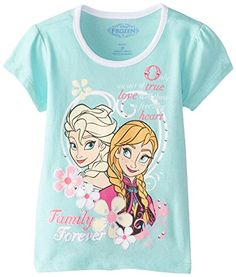 Disney Little Girls' Short Sleeve Elsa and Anna Green Tee... http://www.amazon.com/dp/B00OY81170/ref=cm_sw_r_pi_dp_kpmhxb0HQGXZ2