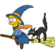 Coloriage Halloween Simpson a imprimer