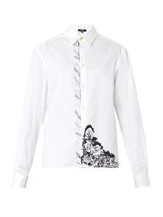 Anthony Vaccarello X Versus Versace Rose-print cotton shirt