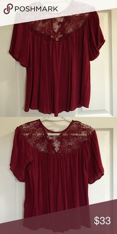 Abercrombie & Fitch Women's Top Worn once! Super cute, flowy top. Abercrombie & Fitch Tops