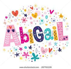 stock-vector-abigail-girls-name-decorative-lettering-type-design-287765339.jpg (450×442)