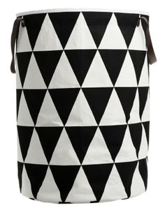 The shapely Triangle Laundry Basket was designed for the label ferm Living. The laundry basket by ferm Living convinces with its clear, graphic design and high House Doctor, Toy Storage, Storage Baskets, Storage Organization, Nursery Storage, Kids Storage, Storage Spaces, Cute Blankets, Laundry Hamper