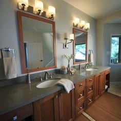 Rustic Modern ranch house master bath.