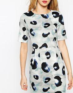 Enlarge ASOS Wiggle Dress In Animal Print