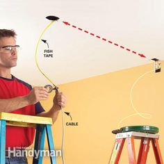 Inside cabinets fishing and wire on pinterest for Fish cable through wall