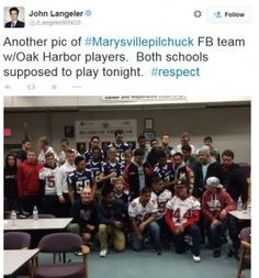 """""""An Act of Compassion and Sportsmanship in the Midst of Tragedy"""" -- I missed this story real-time, but it still made me cry after the fact. Kudos, Oak Harbor! From the most unusual and fascinating blog, """"Romancing the Jock."""""""