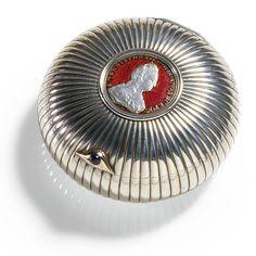 A Fabergé silver and guilloché enamel Bonbonniere, workmaster: Anders Nevalainen, St Petersburg, circa 1890