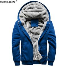 USRUER-YEEZY 2017 New Fashion Winter Autumn Mens Brand Hoodies Sweatshirts Casual Male Hooded Jackets Coats Fleece Tracksuit Men