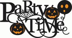 Silhouette Design Store - Design #68084: party time halloween title