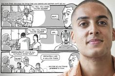 """This 26-Year-Old Guy Is on a Mission to Teach Guys How to Hook Up… Without Disrespecting Women -  """"The guys actually want to take girls out, but when girls are asked, they think all guys just want to hook up."""" So he created a graphic novel to help guys out.  when we try to speak to everyone, we wind up speaking to no one.- Colin Adamo"""