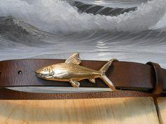 Bone Fish Belt from Cellar Leather