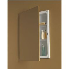 Broan-NuTone 622 Single Door Recessed Cabinet by Broan-NuTone. $135.51. Broan-NuTone. 622. Medicine Cabinets. 622 Features: -Single recessed cabinet.-Reversible single door hinge.-Piano hinge.-Two adjustable polystyrene shelves. Construction: -Steel construction. Dimensions: -Wall opening dimensions: 18'' H x 14'' W x 3.5'' D.-Overall dimensions: 21.5'' H x 16.25'' W.