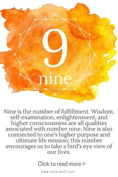 The mystical meaning of number 9: enlightenment, higher consciousness, wisdom / numerology