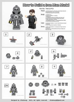 Lego Tutorial   How to Build a Iron Man Mark1
