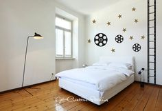 Movie Decal Theater Wall Decal Film Strip Decal Hollywood Star Home Theater Decal Film Reel Celebrity Black Metallic Gold