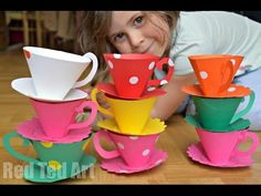 Paper Teacup Printable & Tea Party Games | Red Ted Art's Blog