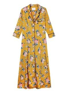 Robe longue imprimée fleurs Jaune by FRNCH Flower Power, Yellow Flowers, Spring Summer, Dress, Woman